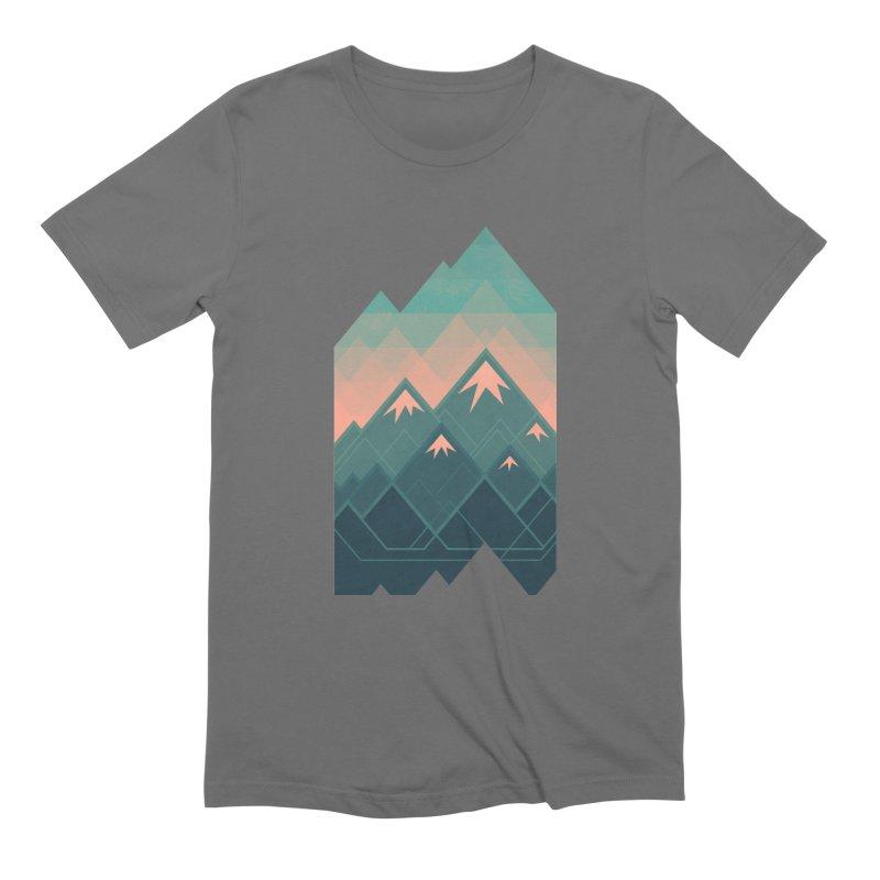 Geometric Mountains Men's T-Shirt by Waynem