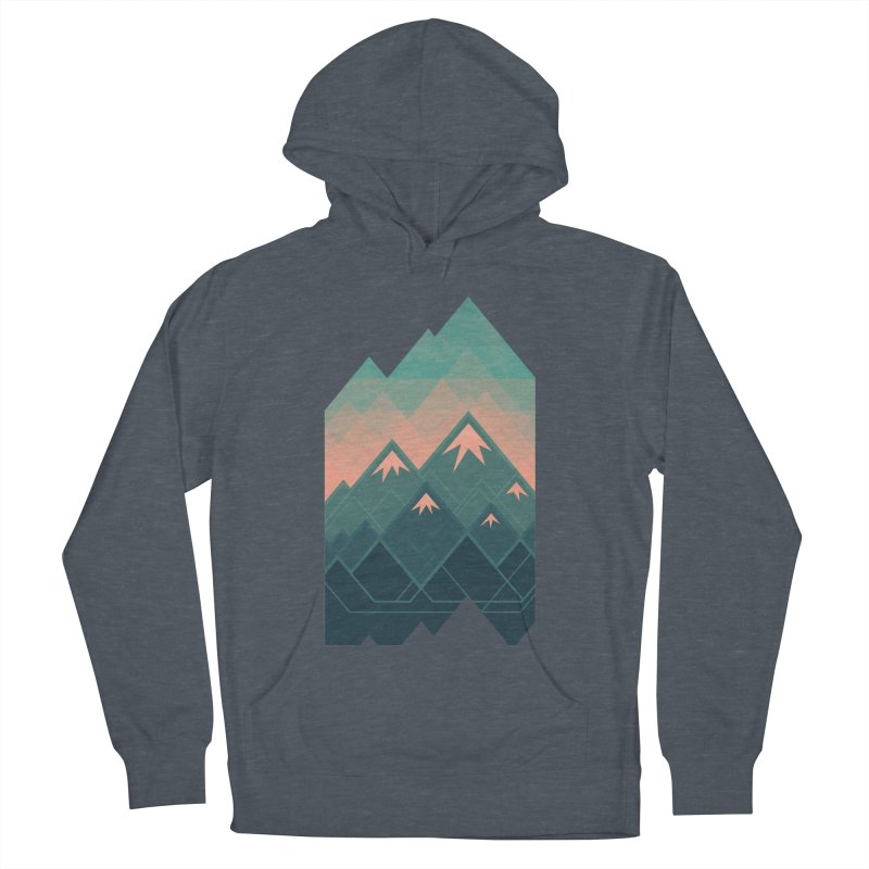 Geometric Mountains Women's Pullover Hoody by Waynem
