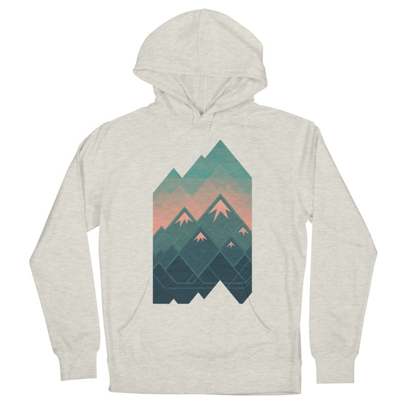 Geometric Mountains Women's Pullover Hoody by Waynem