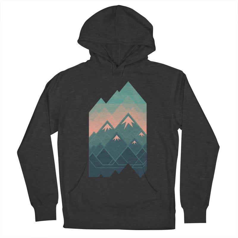 Geometric Mountains Men's Pullover Hoody by Waynem