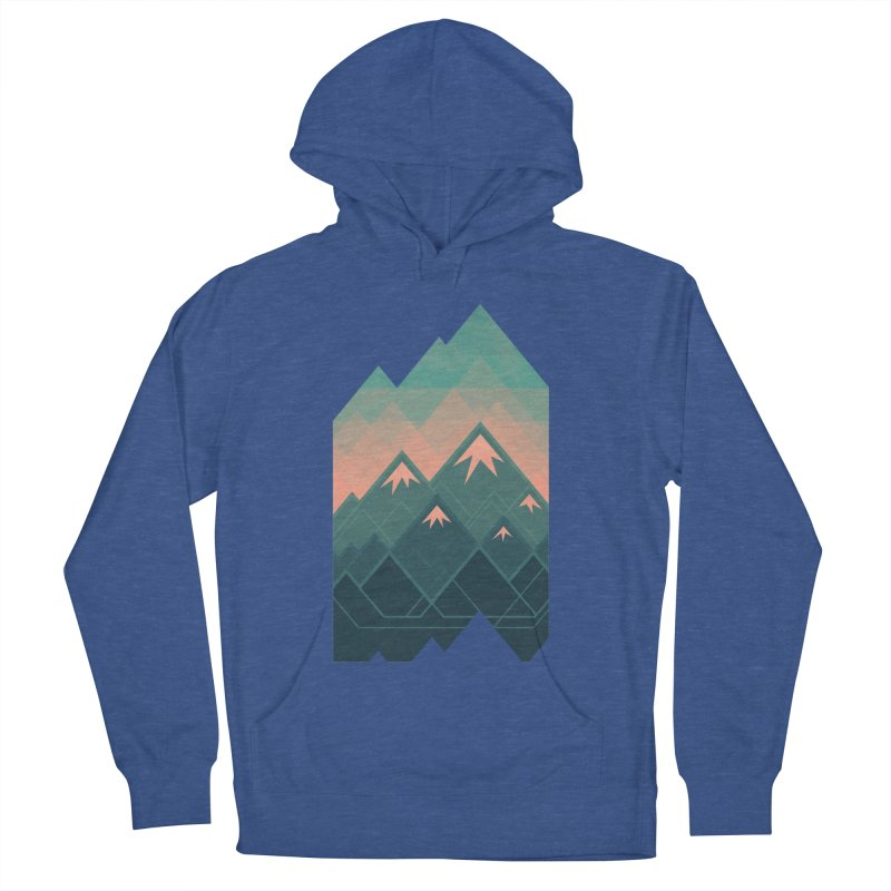 Geometric Mountains Men's Pullover Hoody by Waynem