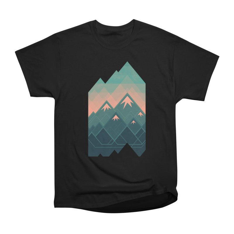 Geometric Mountains Women's Classic Unisex T-Shirt by Waynem