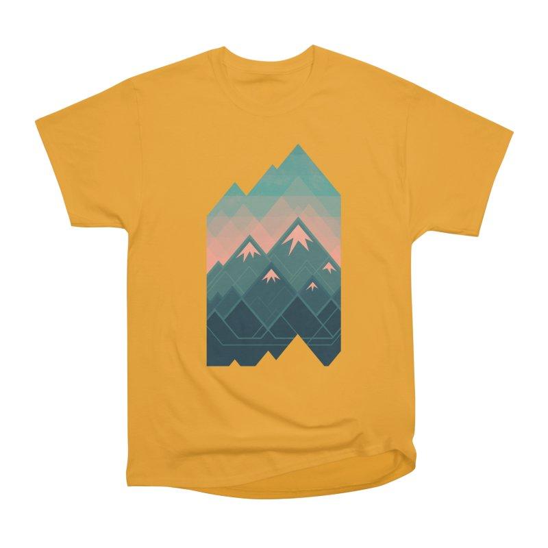 Geometric Mountains Men's Classic T-Shirt by Waynem