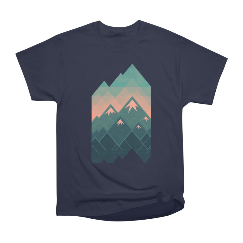 Geometric Mountains Women's Classic Unisex T-Shirt by Waynem