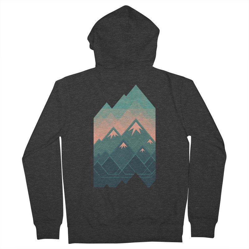 Geometric Mountains Women's Zip-Up Hoody by Waynem