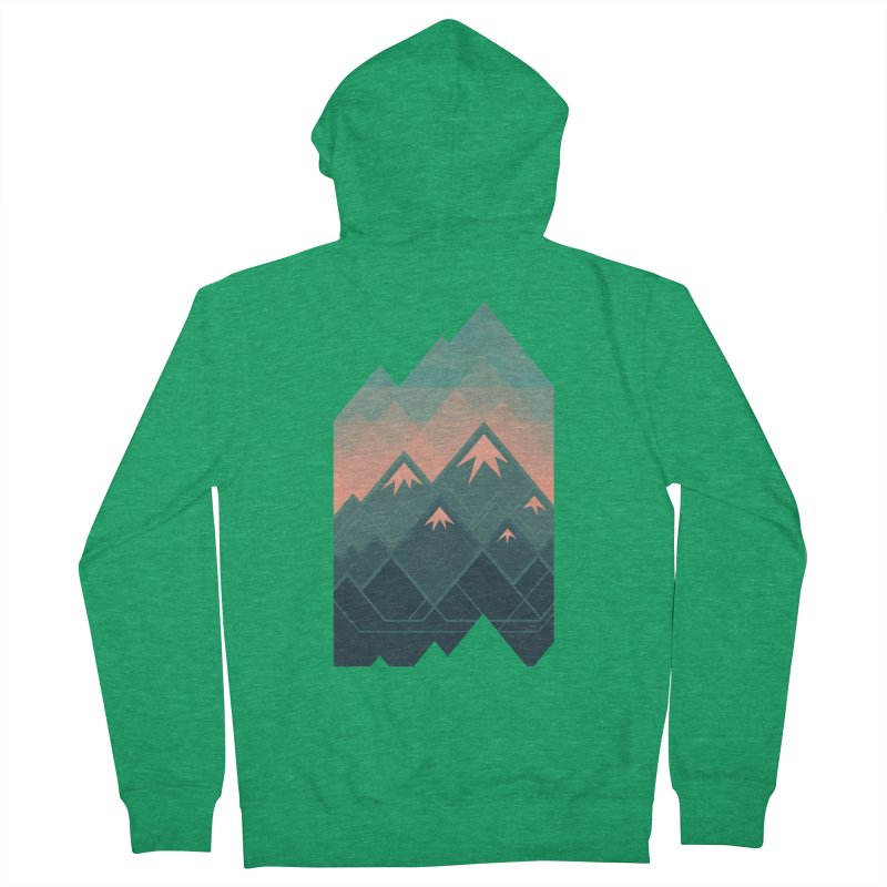 Geometric Mountains Men's Zip-Up Hoody by Waynem