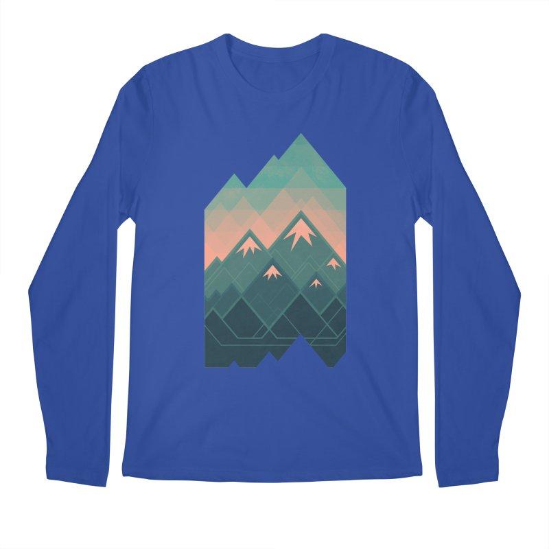 Geometric Mountains Men's Longsleeve T-Shirt by Waynem