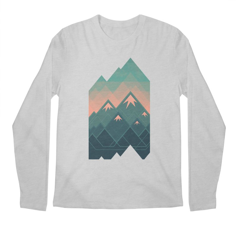 Geometric Mountains Men's Longsleeve T-Shirt by Waynem