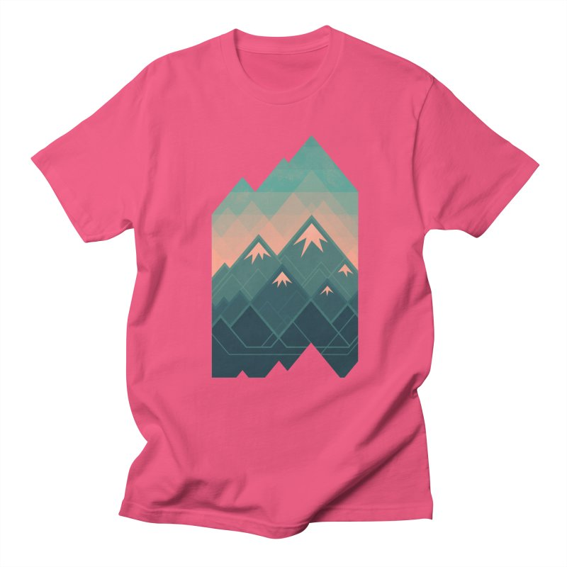 Geometric Mountains Women's Unisex T-Shirt by Waynem