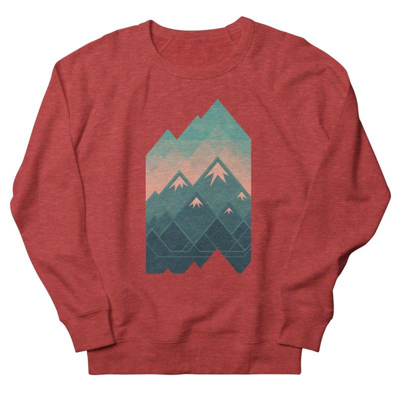 Geometric Mountains Men's Sweatshirt by Waynem