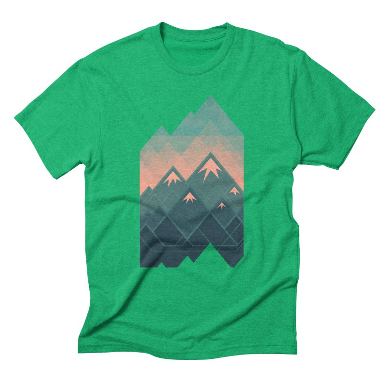 Geometric Mountains Men's Triblend T-shirt by Waynem