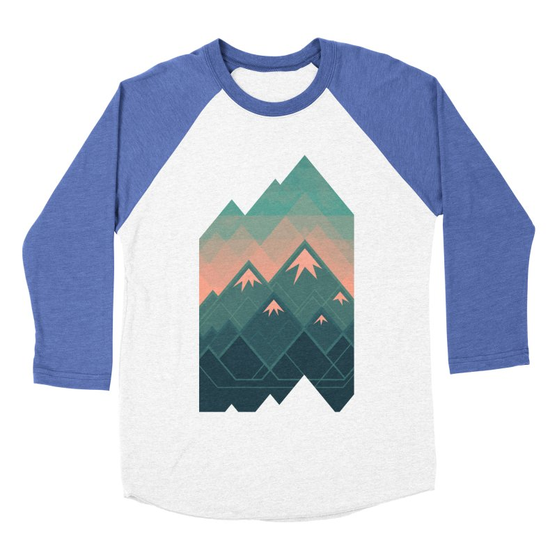 Geometric Mountains Women's Baseball Triblend T-Shirt by Waynem