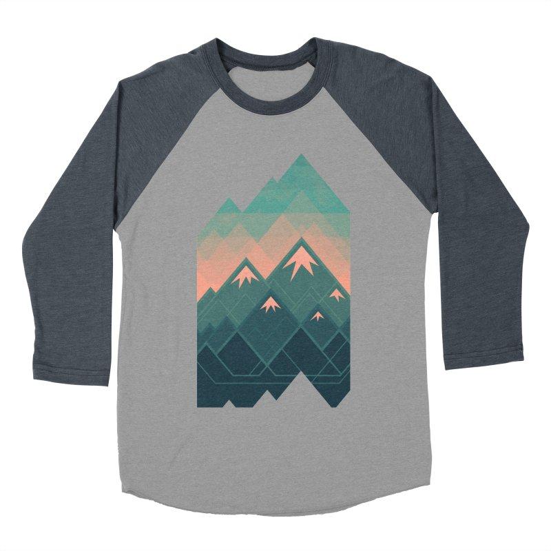 Geometric Mountains Women's Baseball Triblend T-Shirt by Waynem