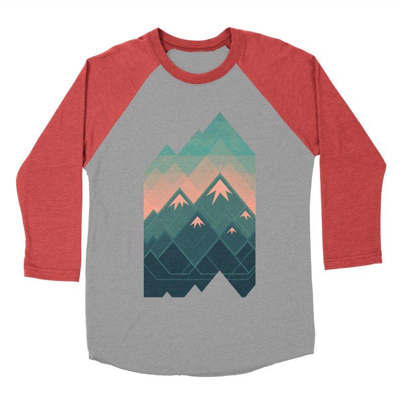 Geometric Mountains Men's Baseball Triblend T-Shirt by Waynem