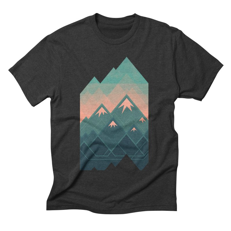 Geometric Mountains Men's Triblend T-shirt by Waynem