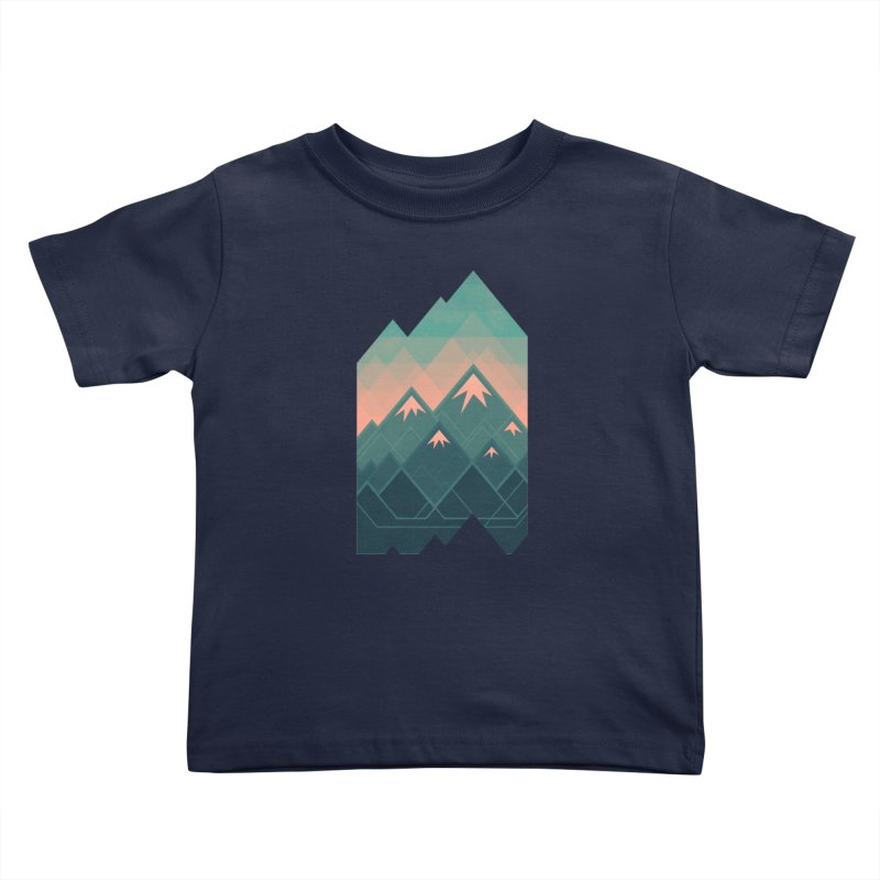 Geometric Mountains Kids Toddler T-Shirt by Waynem