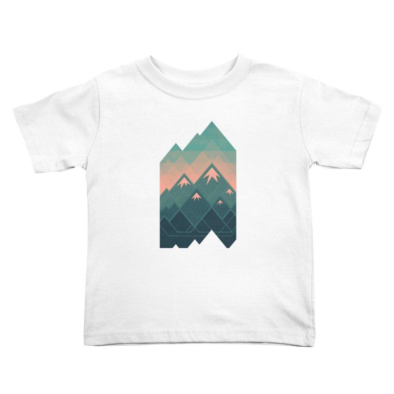 Geometric Mountains Kids Toddler T-Shirt by Waynem