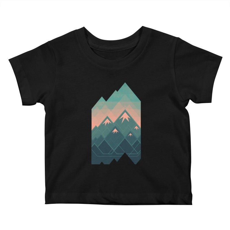 Geometric Mountains Kids Baby T-Shirt by Waynem