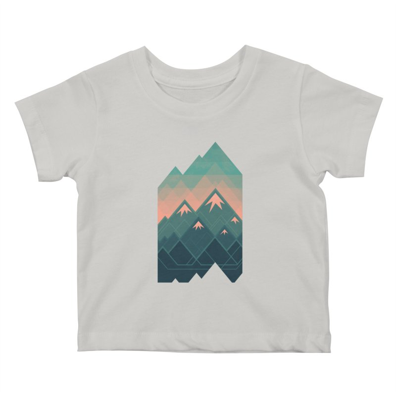 Geometric Mountains Kids Baby T-Shirt by Waynem