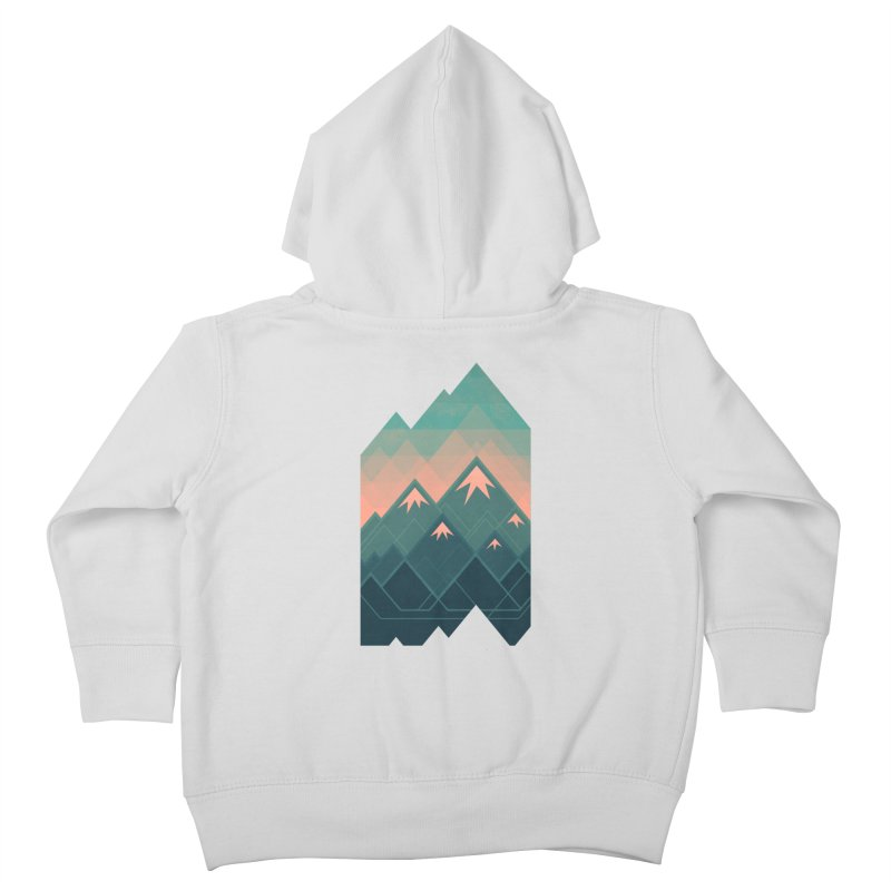 Geometric Mountains Kids Toddler Zip-Up Hoody by Waynem