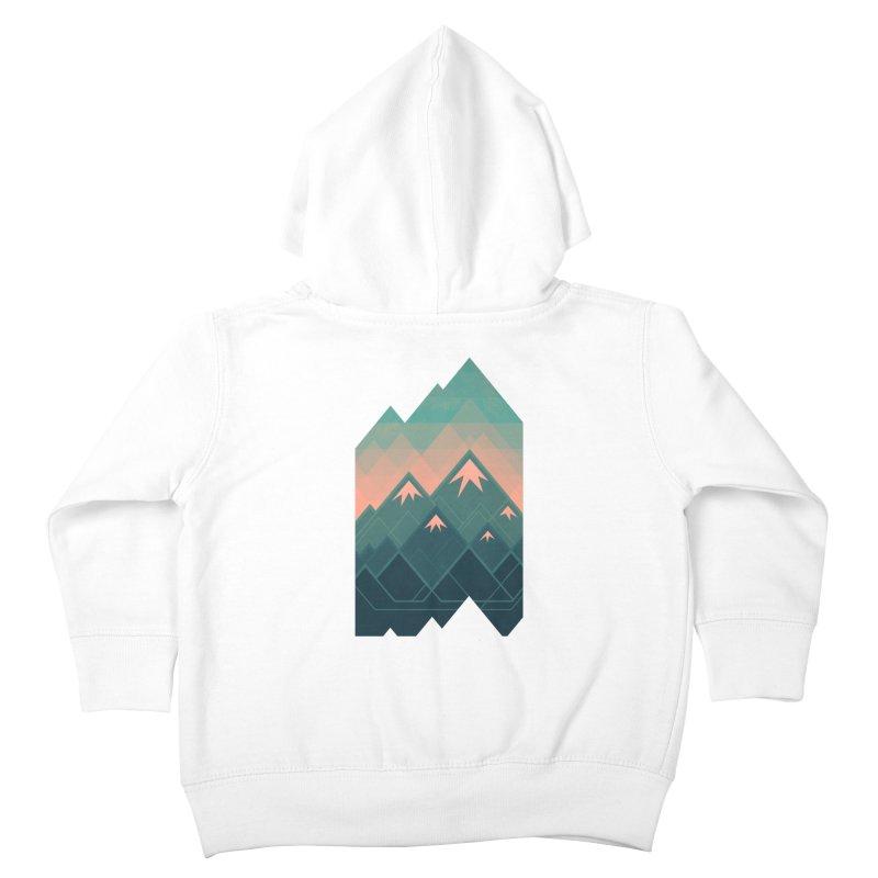 Geometric Mountains Kids Toddler Zip-Up Hoody by Waynem