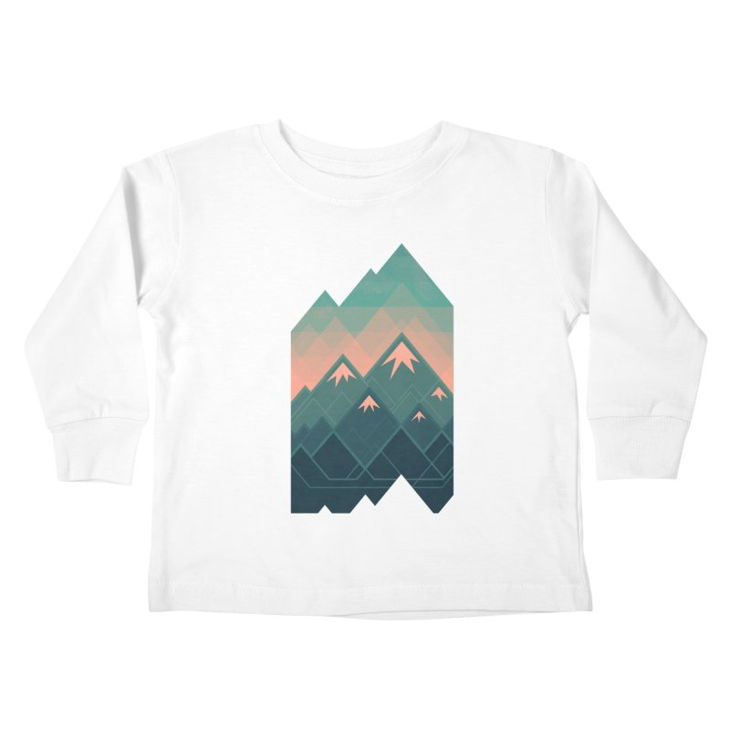 Geometric Mountains Kids Toddler Longsleeve T-Shirt by Waynem