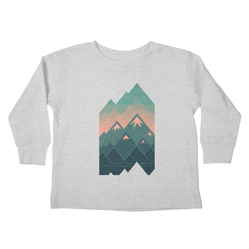 Geometric Mountains Kids Toddler Longsleeve T-Shirt by Waynem