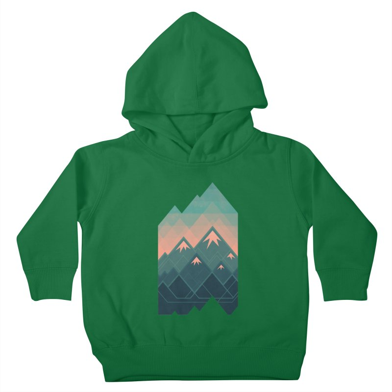 Geometric Mountains Kids Toddler Pullover Hoody by Waynem