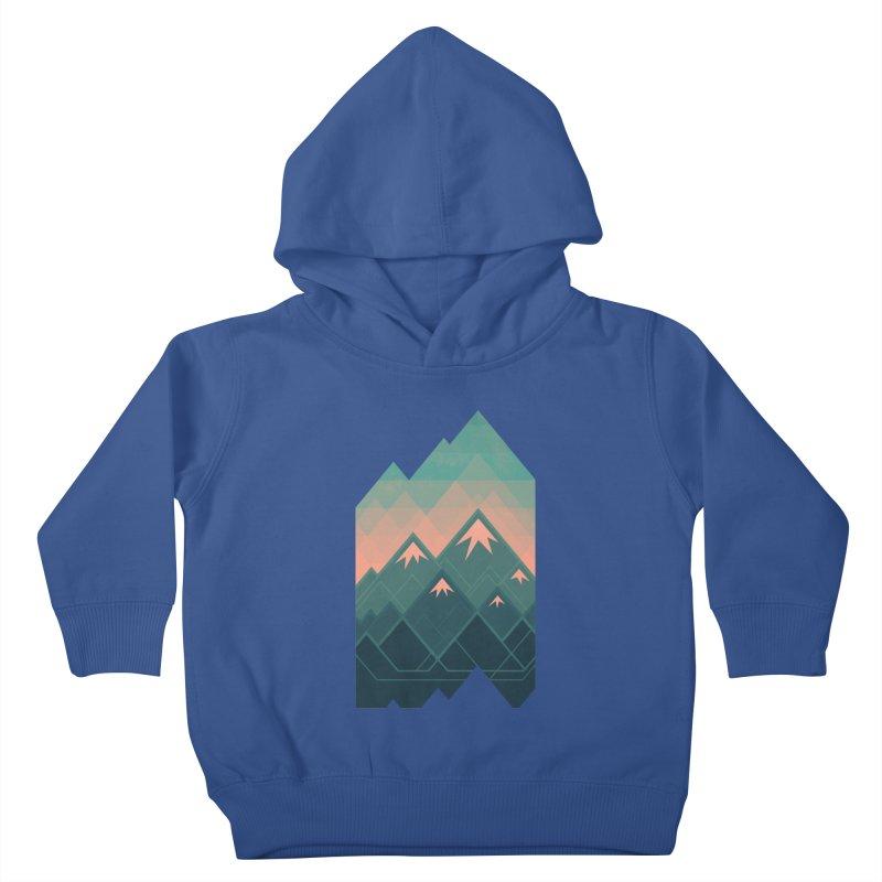 Geometric Mountains Kids Toddler Pullover Hoody by Waynem