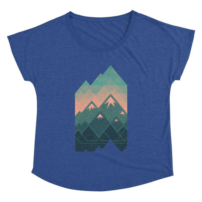 Geometric Mountains Women's Dolman by Waynem