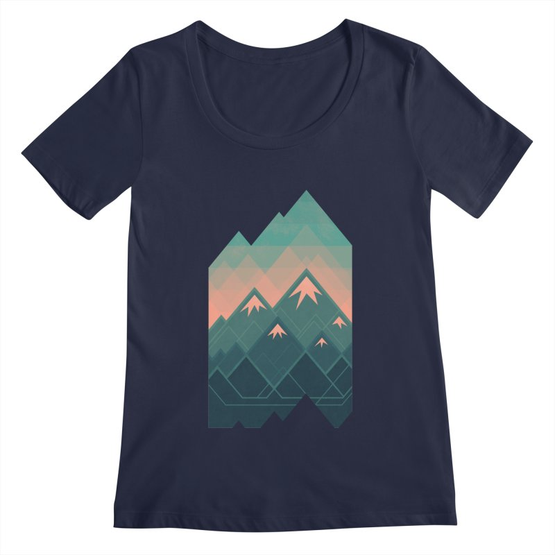 Geometric Mountains Women's Scoopneck by Waynem