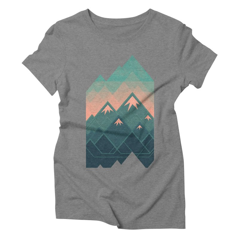 Geometric Mountains Women's Triblend T-shirt by Waynem