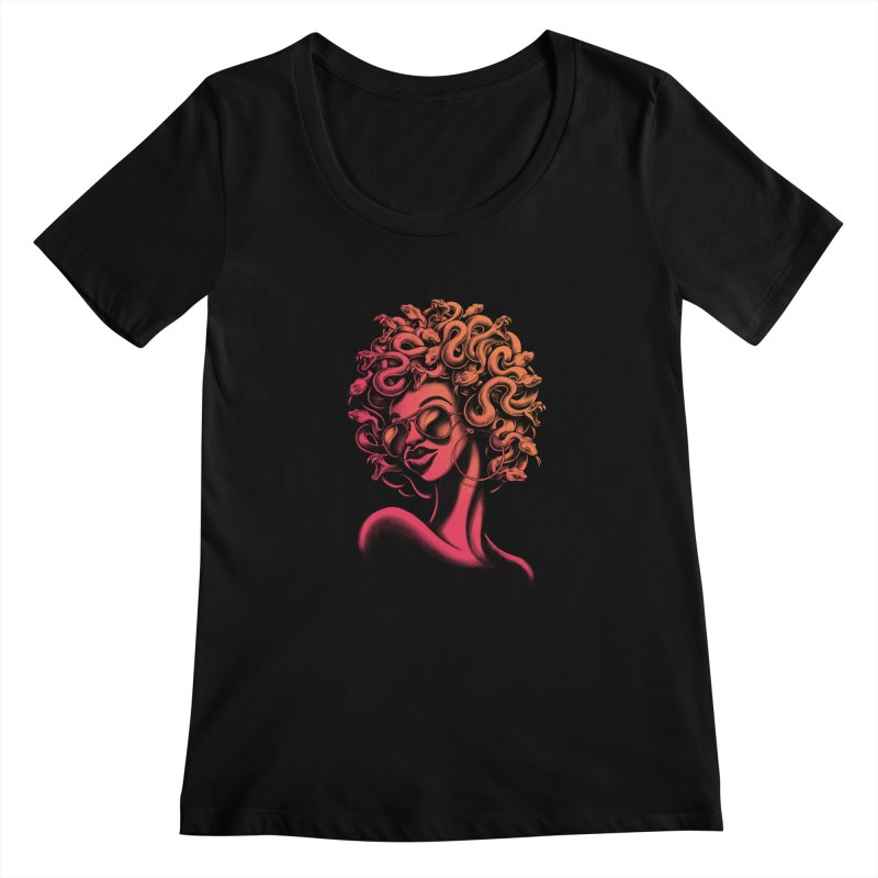 Funky Medusa II Women's Scoopneck by Waynem