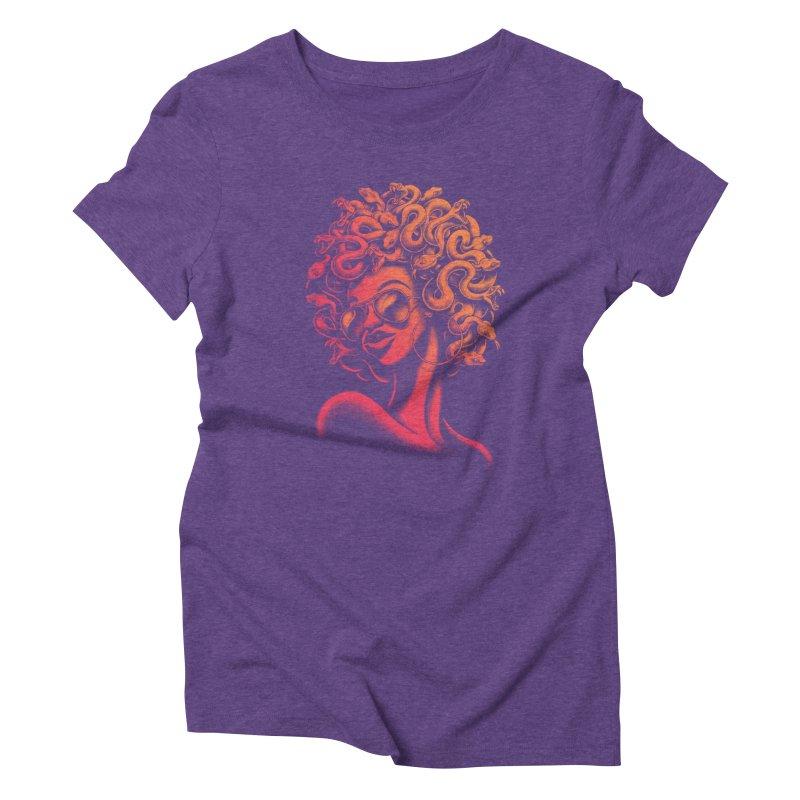 Funky Medusa II Women's Triblend T-shirt by Waynem