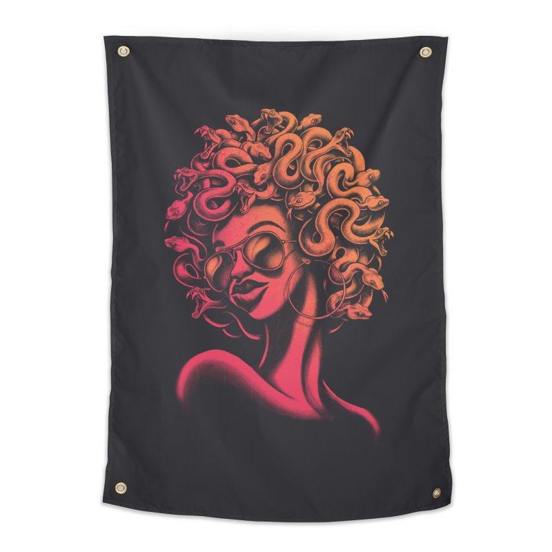 Funky Medusa II Home Tapestry by Waynem