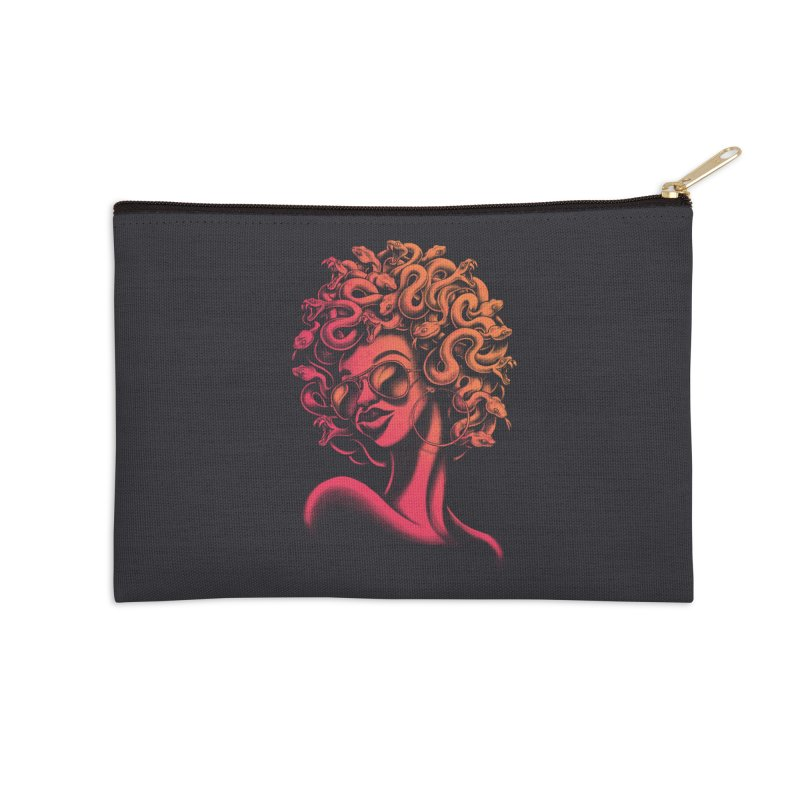 Funky Medusa II Accessories Zip Pouch by Waynem
