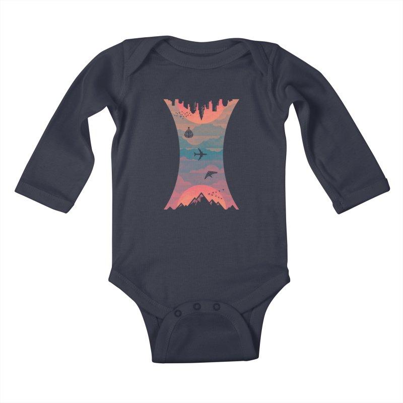 Sunrise / Sunset Kids Baby Longsleeve Bodysuit by Waynem