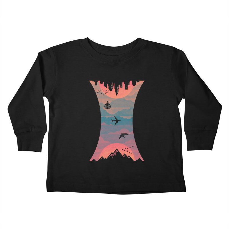 Sunrise / Sunset Kids Toddler Longsleeve T-Shirt by Waynem