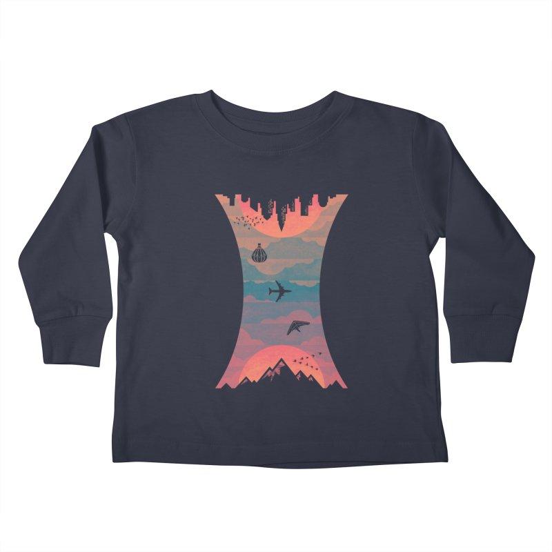Sunrise / Sunset Kids Toddler Longsleeve T-Shirt by Waynem