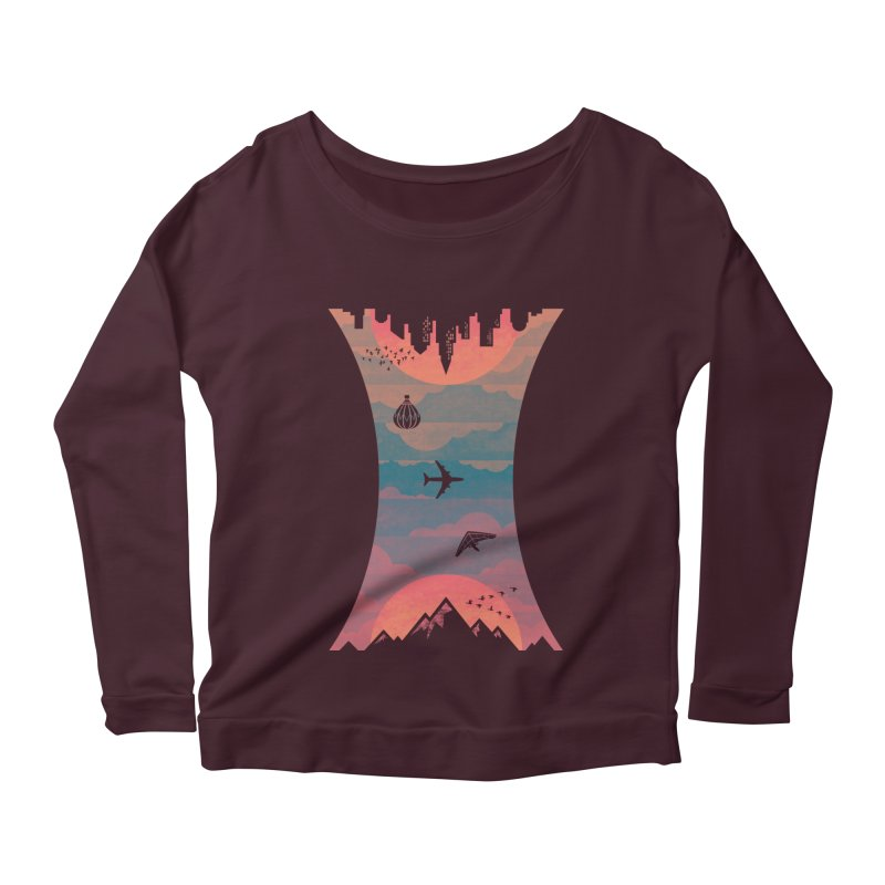 Sunrise / Sunset Women's Longsleeve Scoopneck  by Waynem