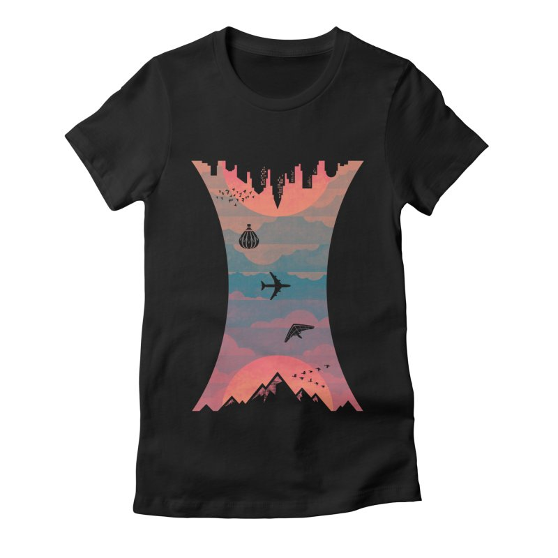 Sunrise / Sunset Women's Fitted T-Shirt by Waynem