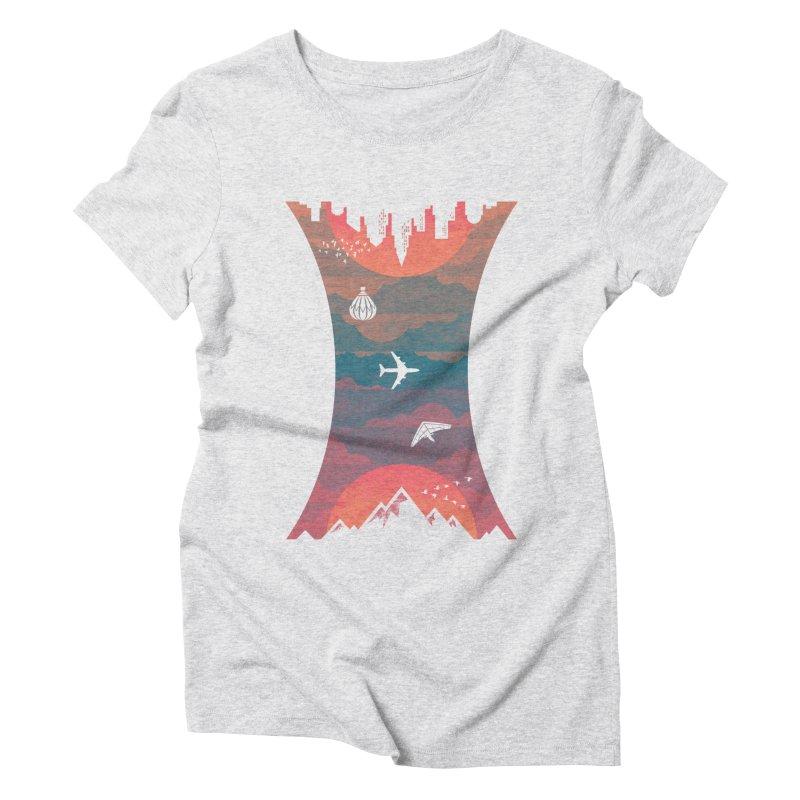 Sunrise / Sunset Women's Triblend T-Shirt by Waynem