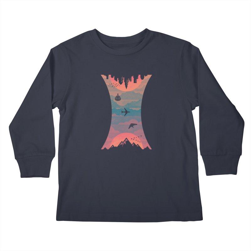 Sunrise / Sunset Kids Longsleeve T-Shirt by Waynem