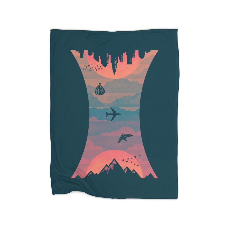 Sunrise / Sunset Home Fleece Blanket by Waynem
