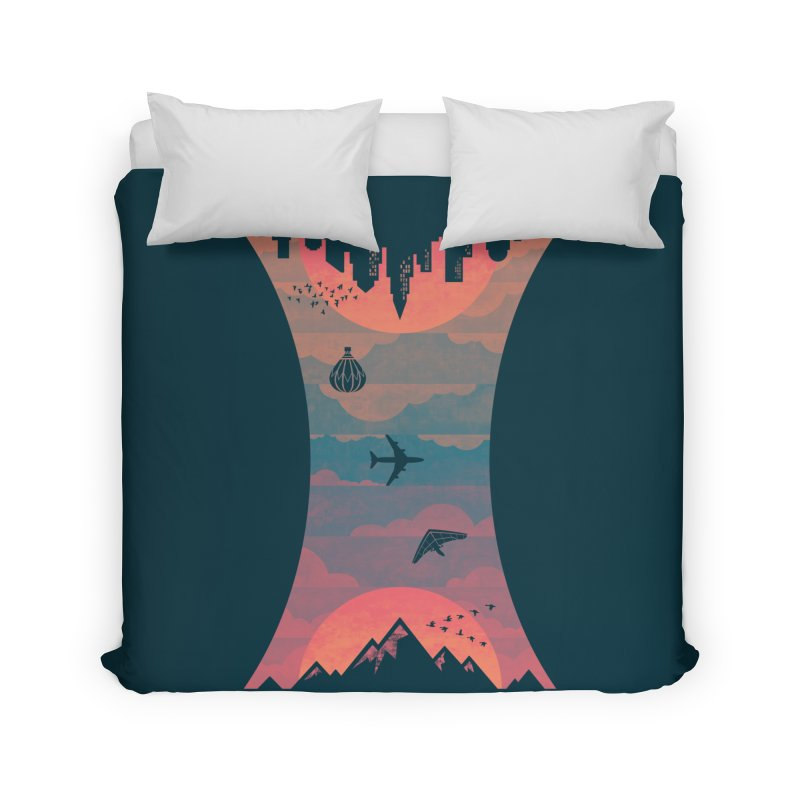 Sunrise / Sunset Home Duvet by Waynem