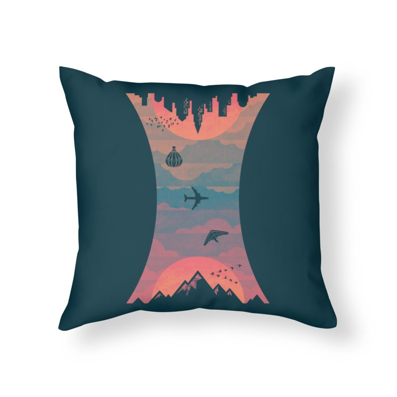 Sunrise / Sunset Home Throw Pillow by Waynem