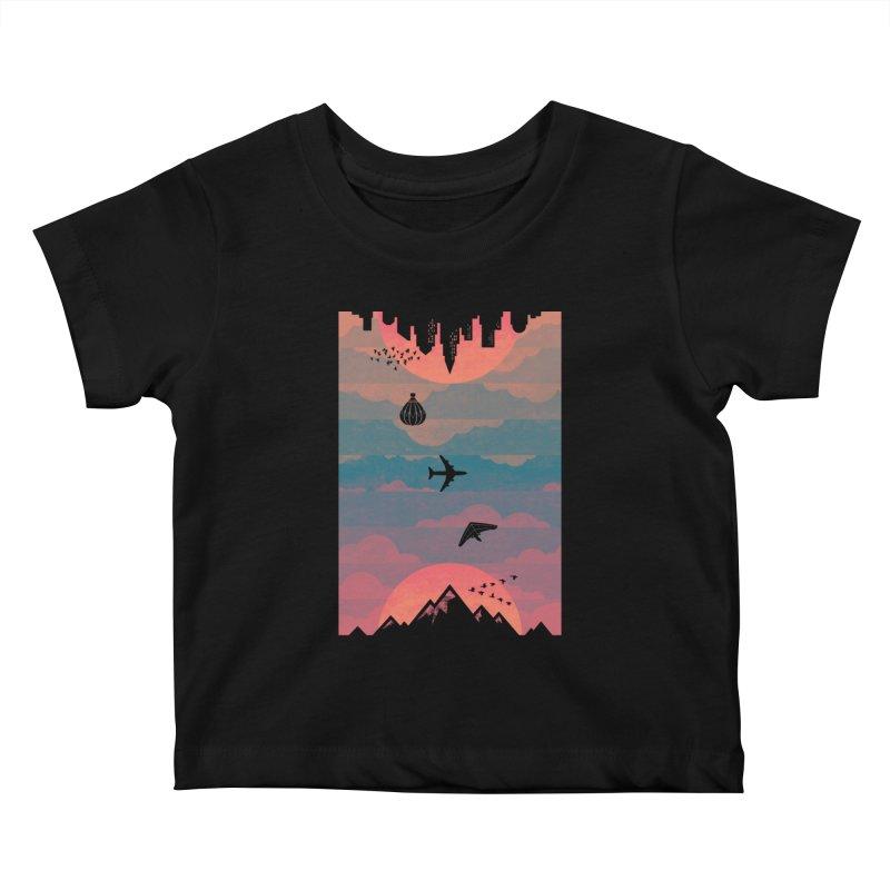Sunrise / Sunset Kids Baby T-Shirt by Waynem