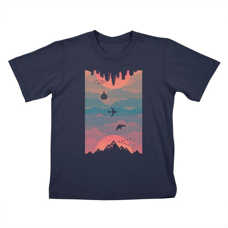 Sunrise / Sunset Kids T-Shirt by Waynem