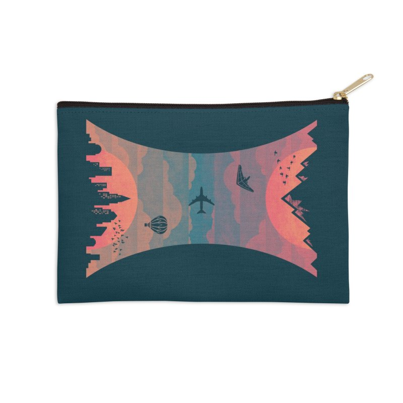 Sunrise / Sunset Accessories Zip Pouch by Waynem