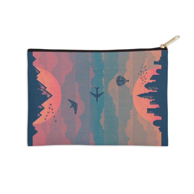Sunrise / Sunset Accessories Zip Pouch by Waynem